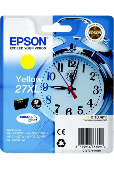 Epson T2714 27Xl Sarı Kartuş Wf7610-7110-3620 1.1K