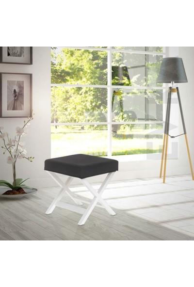 Nar Modern Bench Puf Light Siyah