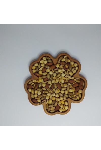 Ciciler Ahşap Çiçek Tabak Çerezlik AHKY18008