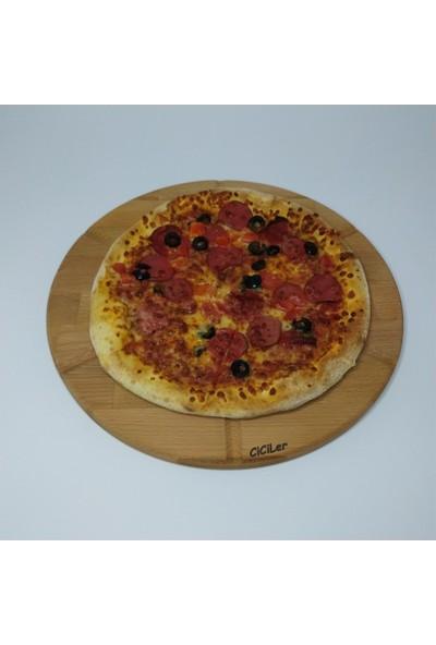Ciciler Ahşap Pizza Kesme Tahtası AHKT18003
