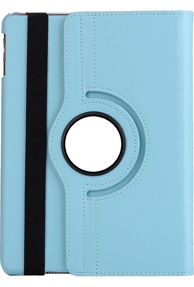 EssLeena Plus Samsung Galaxy Tab S4 Sm-T830/T835 10.5 İnç PlusTech 360 Derece Dönebilen Kılıf + Stylus Kalem (Turkuaz)
