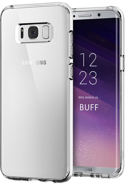 Buff Galaxy S8 Air Hybrid Kılıf Crystal Clear