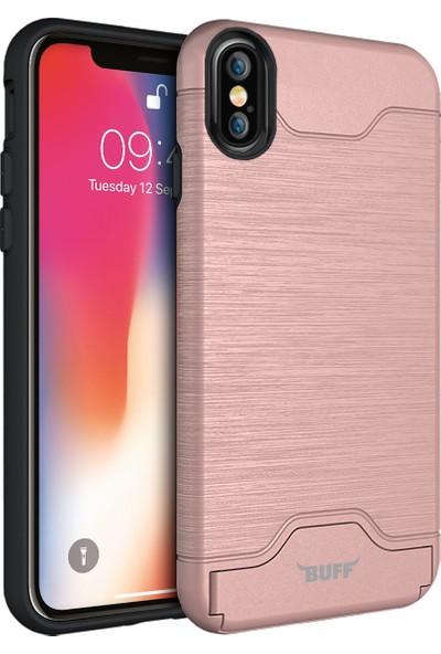 Buff iPhone X Slim Folder Kılıf Rose Gold