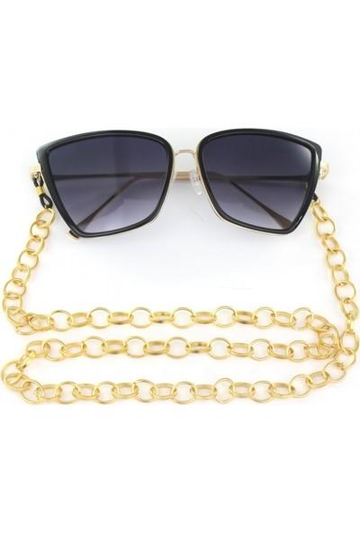 Hane14 Büyük Halkalı Gözlük Zinciri Antik Gold