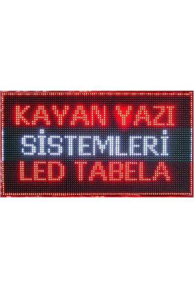 Kaysoled 128Cm X 48Cm Kırmızı Tek Yön Kayan Yazı Led Tabela