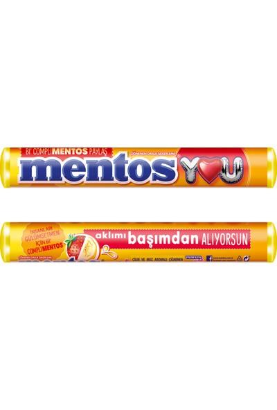 Mentos Stick You Çilek & Muz 20' li x 37,5gr