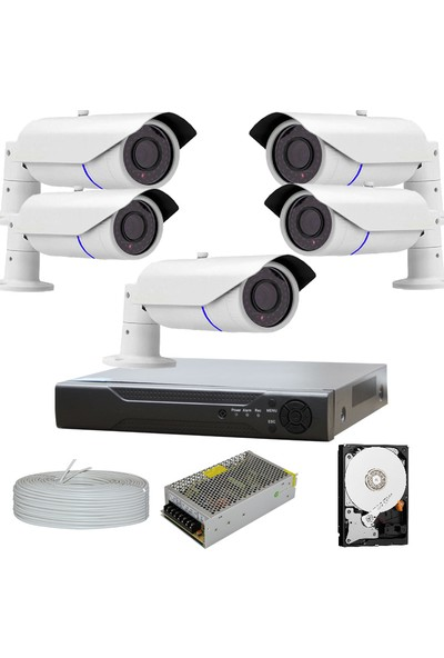 Proahd Ahd 5'li 5 Megapiksel Sony Lens 1080P 42 Irled Aptina Sensör Güvenlik Kamera Sistemleri AHDPRO2042-5