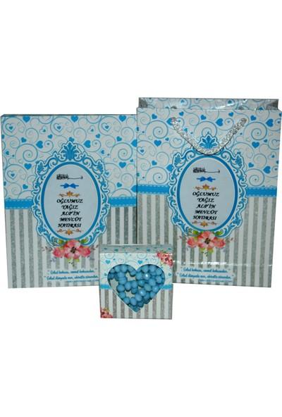 Süslü Şekerleme Isimli 80 Sayfa Yasin Gül Kokulu Tesbih Süslü Şekerleme Isimli Karton Çanta Mevlüt Sünnet Şeker Bebek Şekeri