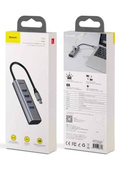 Schulzz Baseus Type-C To 4 USB 3.0 Hub USB Çoklayıcı Adaptör Cahub-Qog