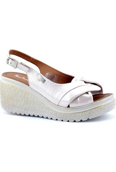 Pierre Cardin Pc-6051 Kadın Dolgu Topuk Sandalet