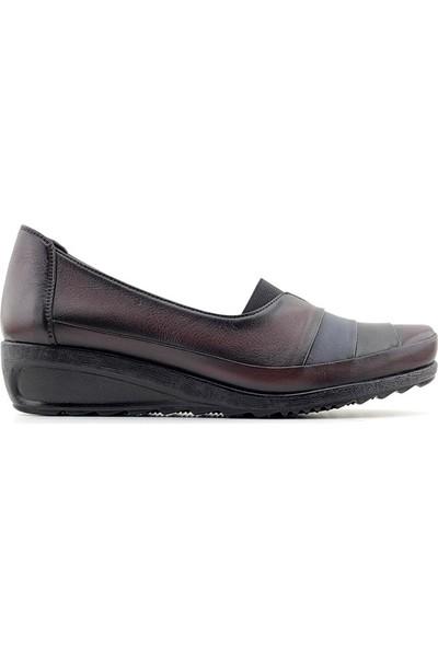 Evida 2474 Hakiki Deri Kadın Ayakkabı