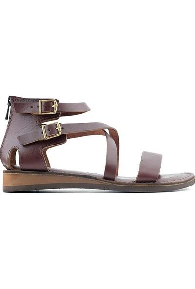 James Franco 130 Hakiki Deri Kadın Sandalet