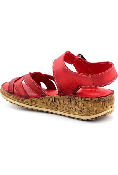 Kayra 906 Hakiki Deri Kadın Sandalet