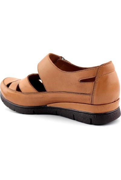 Ege 098 Hakiki Deri Kadın Günlük Sandalet
