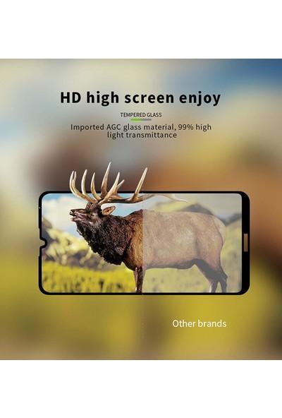 Microsonic Huawei Honor 8S Tam Kaplayan Temperli Cam Ekran Koruyucu Siyah Siyah