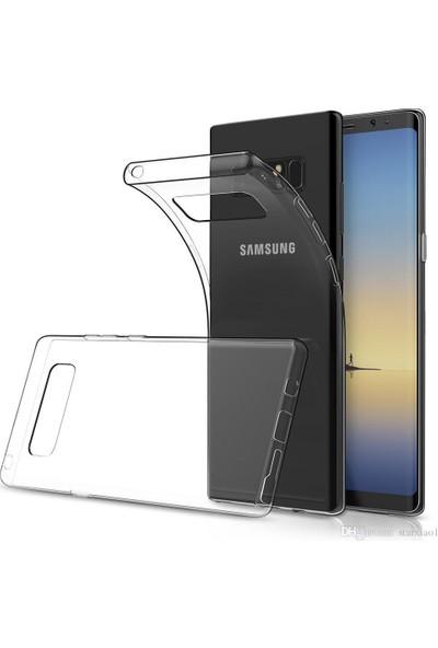 Vendas Samsung Galaxy Note 8 Şeffaf Silikon Kılıf + Ekran Koruyucu