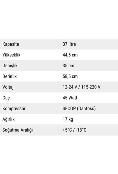 Indelb Tb41 Kompresörlü Oto Buzdolabı 41 Lt.