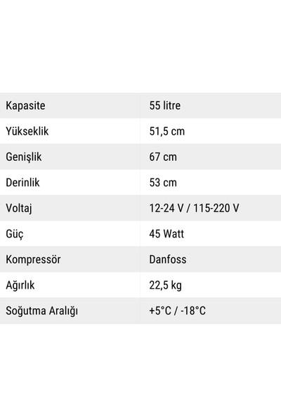 Indelb Tb55A Kompresörlü Oto Buzdolabı 55 Lt.