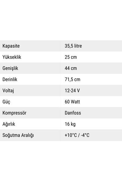 Indelb Tb36 Kompresörlü Oto Buzdolabı 36 Lt.