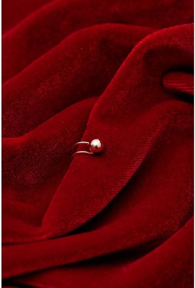 Ninova Silver Top Model Rose Kaplama Gümüş Kıkırdak Küpe