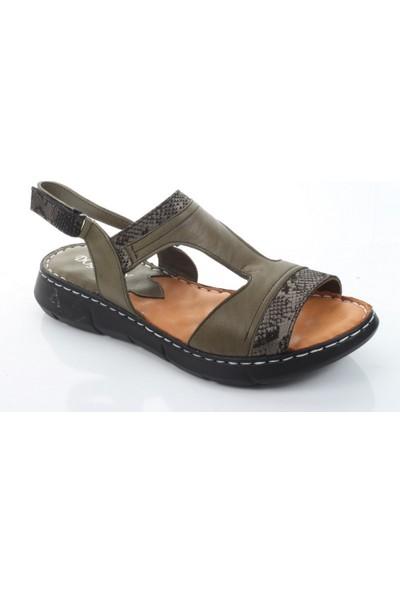 Doğanay 996 Kadın Yazlık Deri Comfort Sandalet