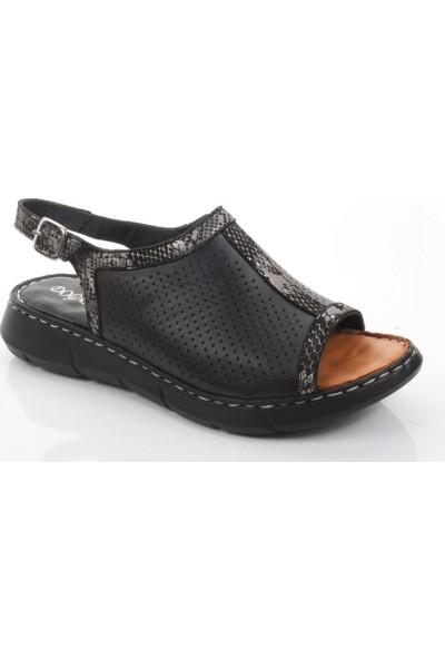 Doğanay 997 Kadın Yazlık Deri Comfort Sandalet