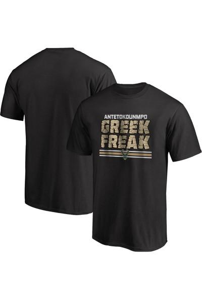 Nsj Sportive Giannis Antetokounmpo Greek Freak T-Shirt