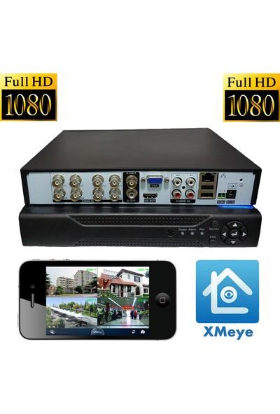 Elcam Dome Gece Görüşlü Güvenlik Kamera Seti 4 Dış 4 Iç 8 Kameralı Set 2mp Ahd