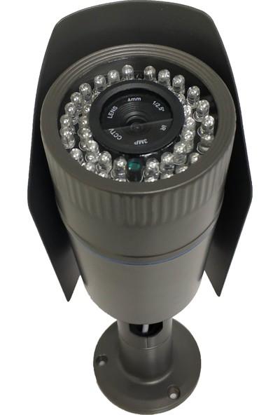 Elcam Gece Görüşlü Güvenlik Kamerası 2 Mp Ahd 1080 42 LED Metal Kasa Dış Ortam