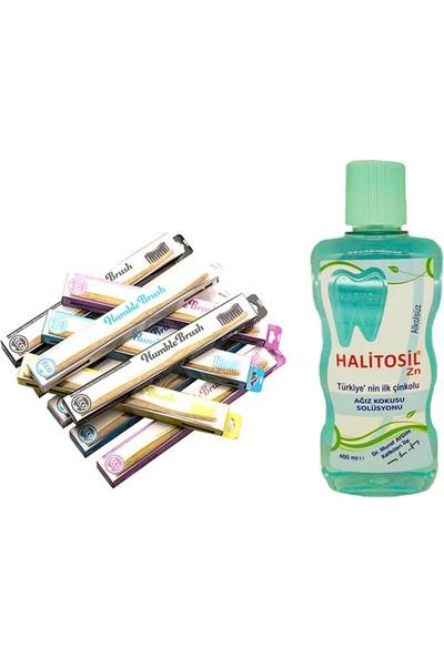 Halitosil Zn Ağız Koku Önleyici 400 ml + Humble Brush Diş Fırçası Soft