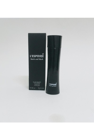 L'Espoire Black And Black For Men Edt 100 ml Parfüm