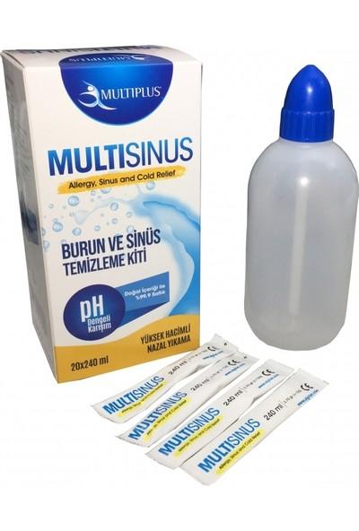 Multiplus Burun Ve Sinüs Temizleme Kiti 20X240 ml 20 Adet Solüsyonlu