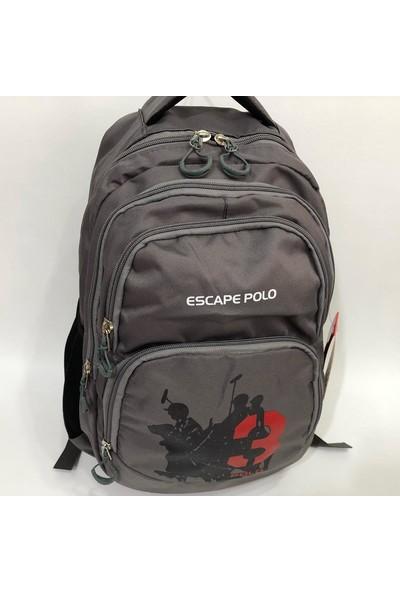 Escape Okul çantası ve günlük sırt çantası EBAT 44 cm 30 cm gri