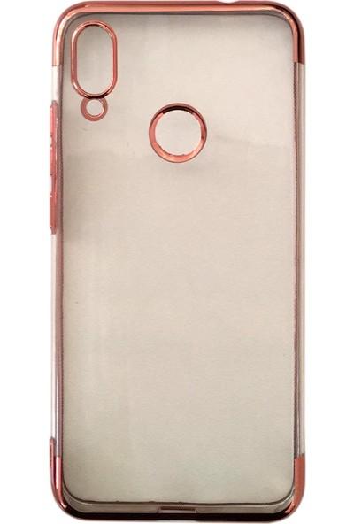 Case 4U Xiaomi Redmi Note 7 Kılıf 4 Köşeli Renkli Lazer Silikon Arka Kapak Glitter Rose Gold