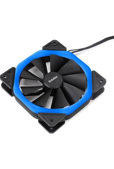 Dark Solid Altıgen Tasarımlı 12cm Mavi LED'li Kasa Fanı (DKCCFB125B)
