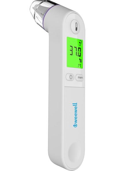 Weewell WTE 250 Dijital Kulak Termometre (Ateş Ölçer) - 1 sn'de Hızlı Ölçüm