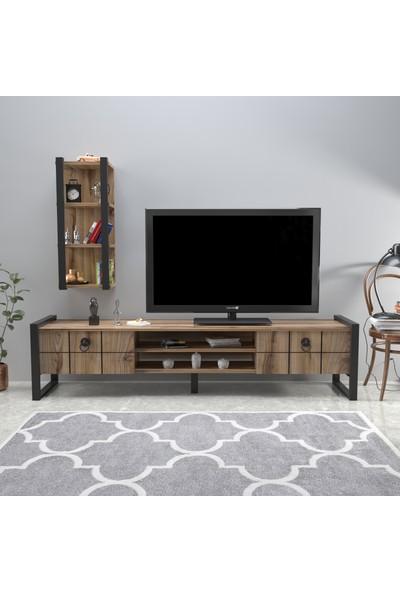Mobildeco Fantastic 3 Raflı Tv Sehpası Televizyon Ünitesi Çırağan