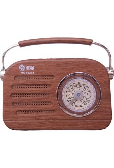 Mega MG-952BT Nostaljik Görünümlü Bluetoothlu Fm Radyo