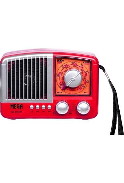 Mega MG-6383BT Bluetoothlu Nostaljik Fm Radyo