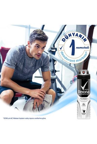 Rexona Invisible Black White Erkek Sprey Deodorant 200 ml