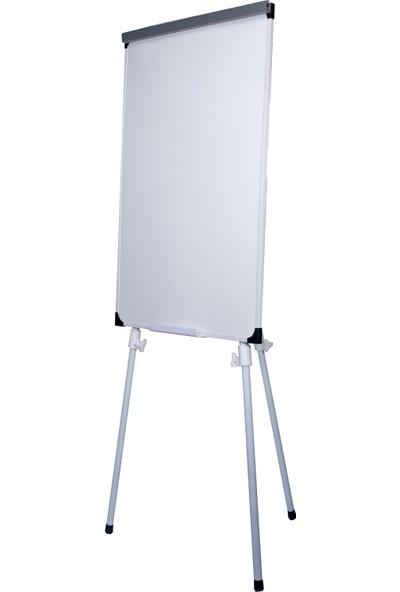 Neon Teleskopik Ayaklı Beyaz Okul Yazı Tahtası Flip Chart 65X100 cm
