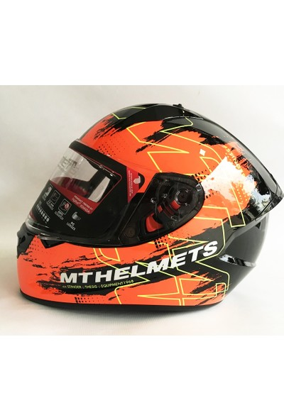 Mt Kask Mt Stinger Thesis F4 Gloss Black Orange M