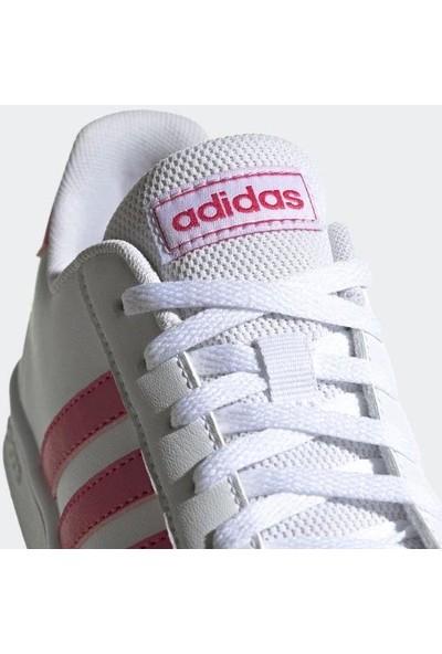 Adidas Genç Tenis Ayakkabısı Spor Beyaz Ef0100 Grand Court K