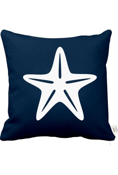 Rahat Yaslan Deniz Yıldızı Motifli Dekoratif Kırlent Kılıfı
