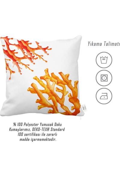 Rahat Yaslan Turuncu Mercanlar Dekoratif Kırlent