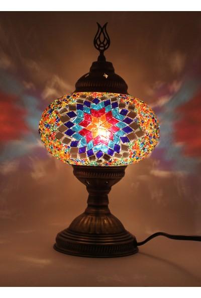 Otantik Masaüstü Mozaik Çalışma Masası Abajur Gece Lambası Dekor Lamba