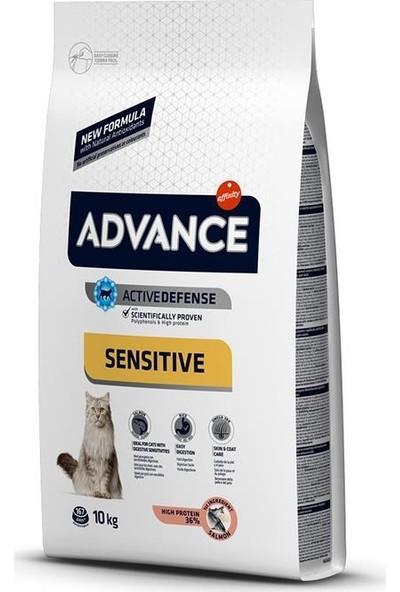 Advance Sensitive Somonlu Yetişkin Kedi Maması 10 kg