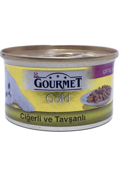 Gourmet Gold Ciğerli Tavşanlı Konserve 85 g x 12 Adet