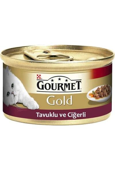 Gourmet Gold Tavuk & Ciğerli Konserve 85 g 12 Adet Adet