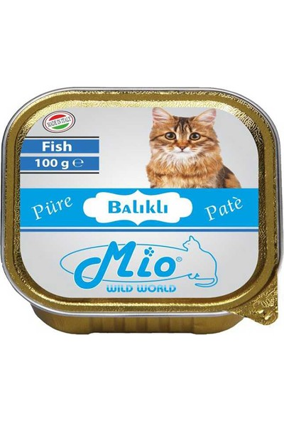 Mio Balık Etli Püre Kedi Konservesi 100 g x 12 Adet